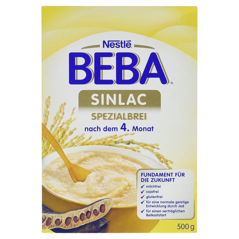 Nestlé BEBA Milchbrei, SINLAC, Spezialbrei, nach dem 4. Monat, Milchbrei zum Anrühren, 500 g Faltschachtel Nestlé BEBA Milchbrei Milchbrei zum Anrühren 12306957