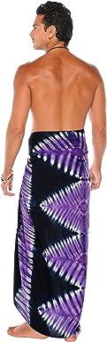 La Fleva 1 World Sarongs Mens Tie Dye Sarong