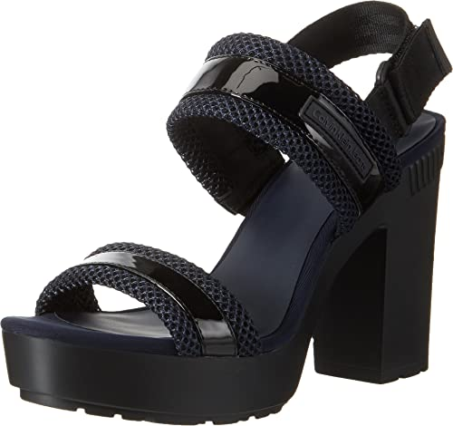 Calvin Klein Women's Lalita Patent/Mesh Strap Sandals Ebay Cheap Sale Good Selling Nicekicks For Sale Outlet Reliable Hhh0a7BJ