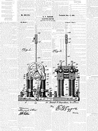 Etonnant Framable Patent Art PAPXSSP228DW The Original Ready To Frame Décor Tesla Electric  Motor Car Engine 8in