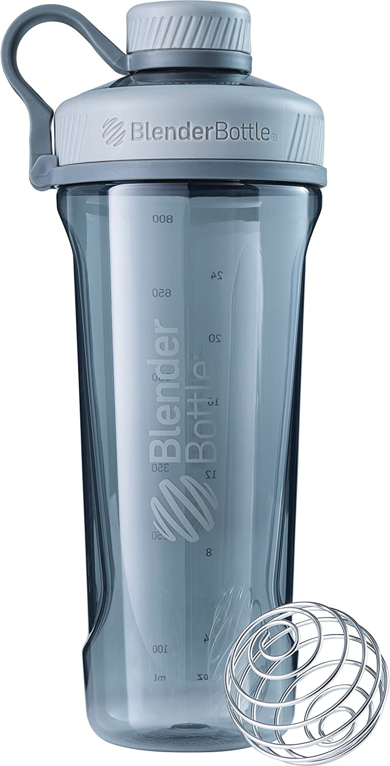 BlenderBottle Radian Tritan Shaker Bottle, Pebble Grey, 32-Ounce
