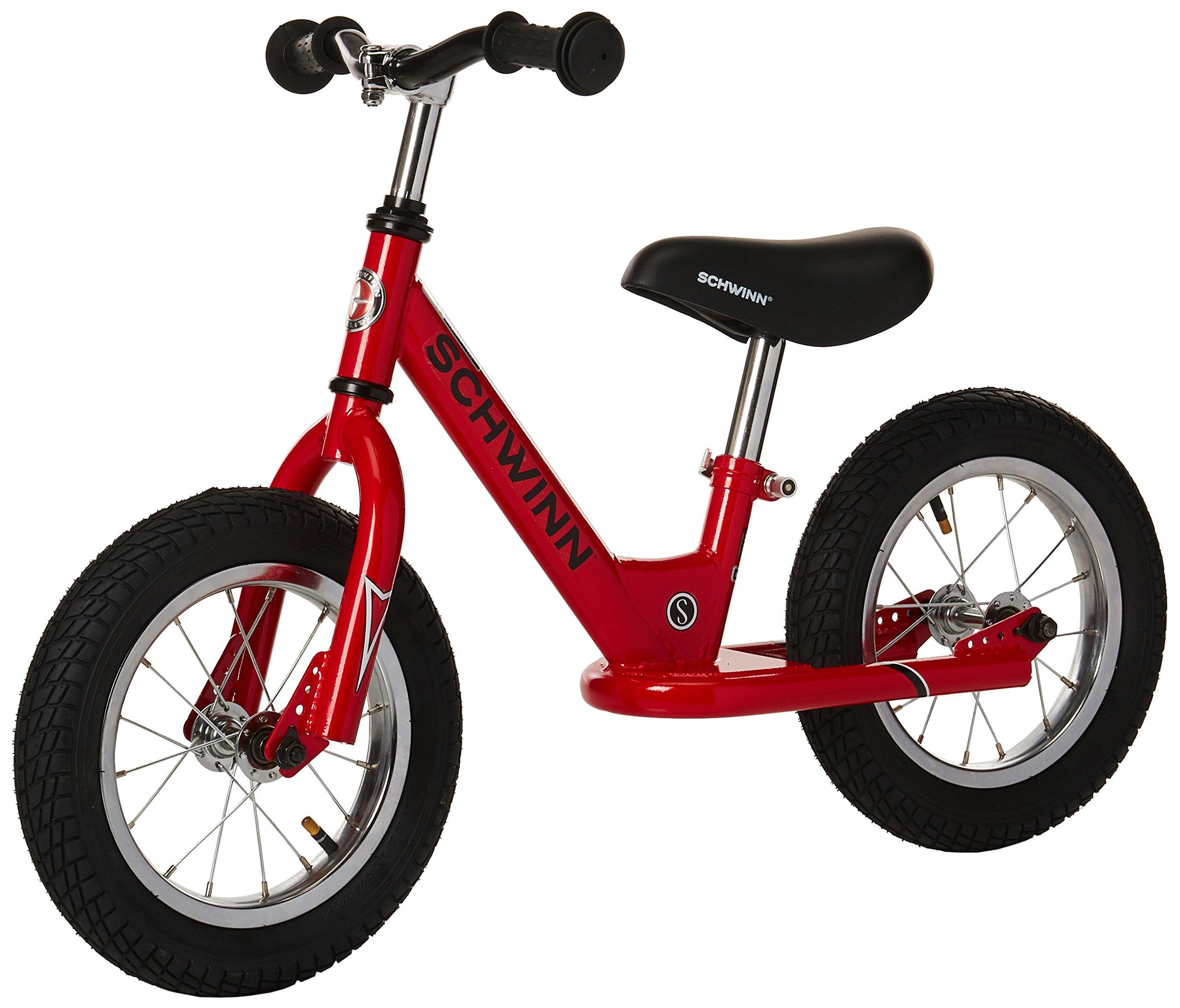Schwinn Balance Bike, 12 inch wheel size, stride bike Ages 2-4 Red
