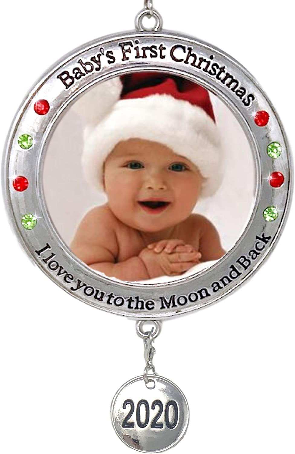 Baby's First Christmas - 2020 Photo Xmas Ornament