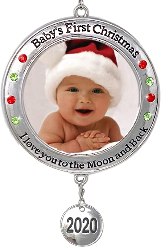 Amazon.com: BANBERRY DESIGNS Baby's First Christmas   2020 Photo