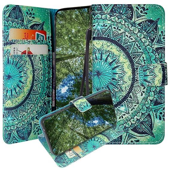 ZTE ZFive G/ZFive C/Avid 4/Fanfare 3/Blade Vantage/Tempo X/Tempo Go Case,  Linkertech Kickstand PU Leather Flip Wallet Case with Card Slots for ZTE