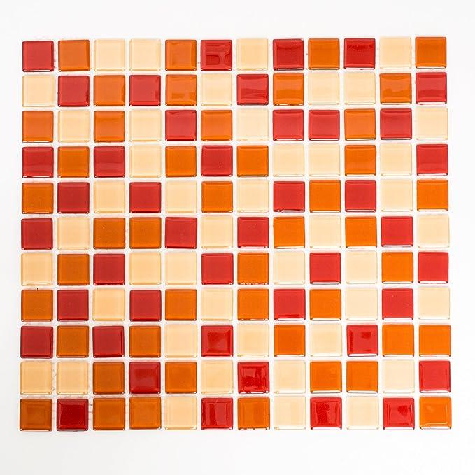 Glasmosaik Orange Fliesen Mosaik Mosaikfliesen 4 mm