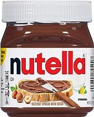Ferrero Nutella Hazelnut Spread, Perfect Topping for Halloween Treats, 13 Oz Jar (Packaging May Vary)