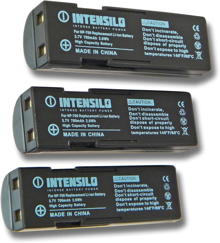 D-Li72 X60 wie NP-700 f/ür Kamera Camcorder Video Minolta Dimage X50 DB-L30. 3.7V SLB-0637 INTENSILO Li-Ion Akku 700mAh