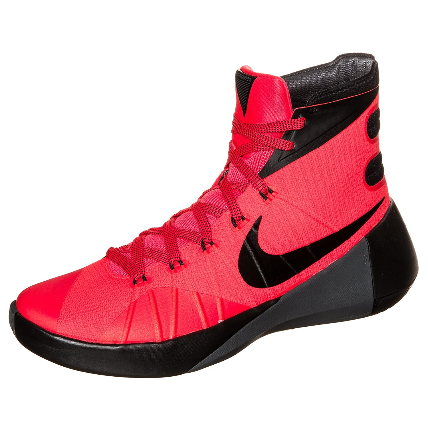 low priced 586da aafe6 nike Hyperdunk 2015 Mens hi top Basketball Trainers 749561 Sneakers Shoes  (UK 8 US 9 EU 42.5, Bright Crimson Black Dark Grey 600)  Buy Online at Low  Prices ...