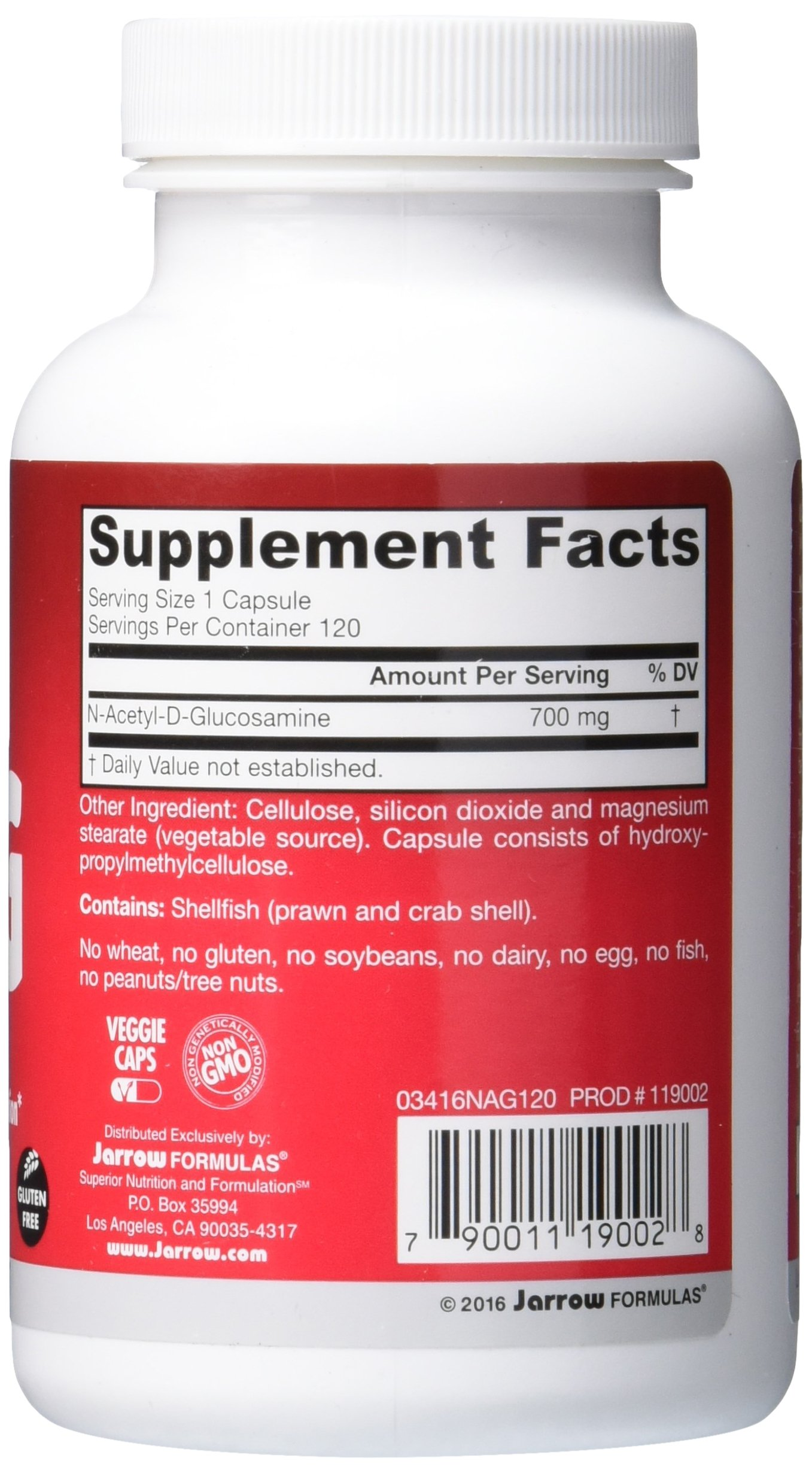 Jarrow Formulas N-A-G 700 mg, Supports Joints & Intestinal Function, 120 Veggie Caps by Jarrow (Image #5)