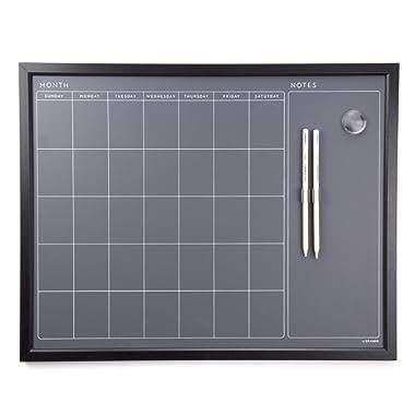 U Brands Magnetic Calendar Chalk Board, Wood Frame, 16  x 20  (2518U00-04)