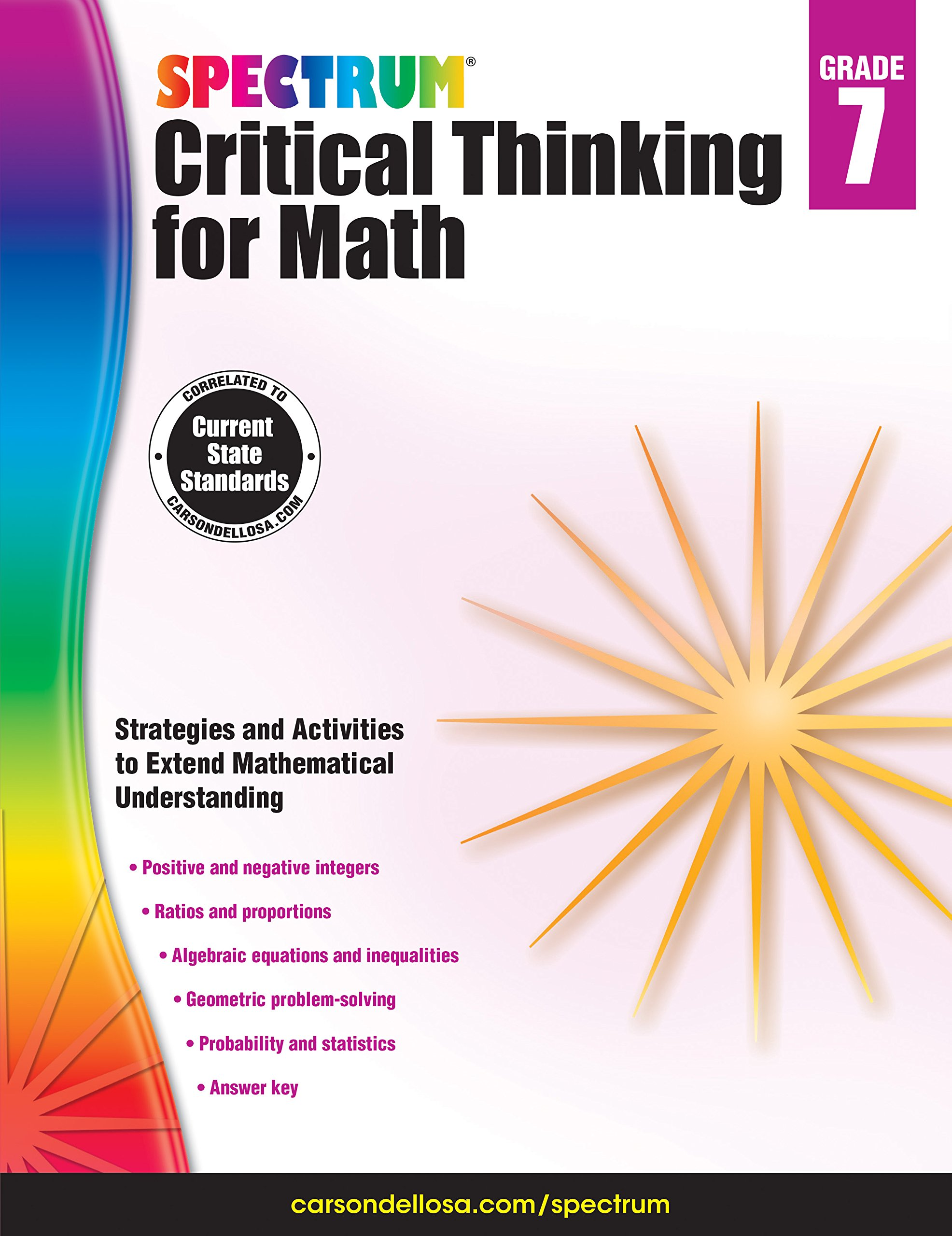 Spectrum critical thinking for math grade 7 spectrum spectrum critical thinking for math grade 7 spectrum 9781483835549 amazon books fandeluxe Image collections