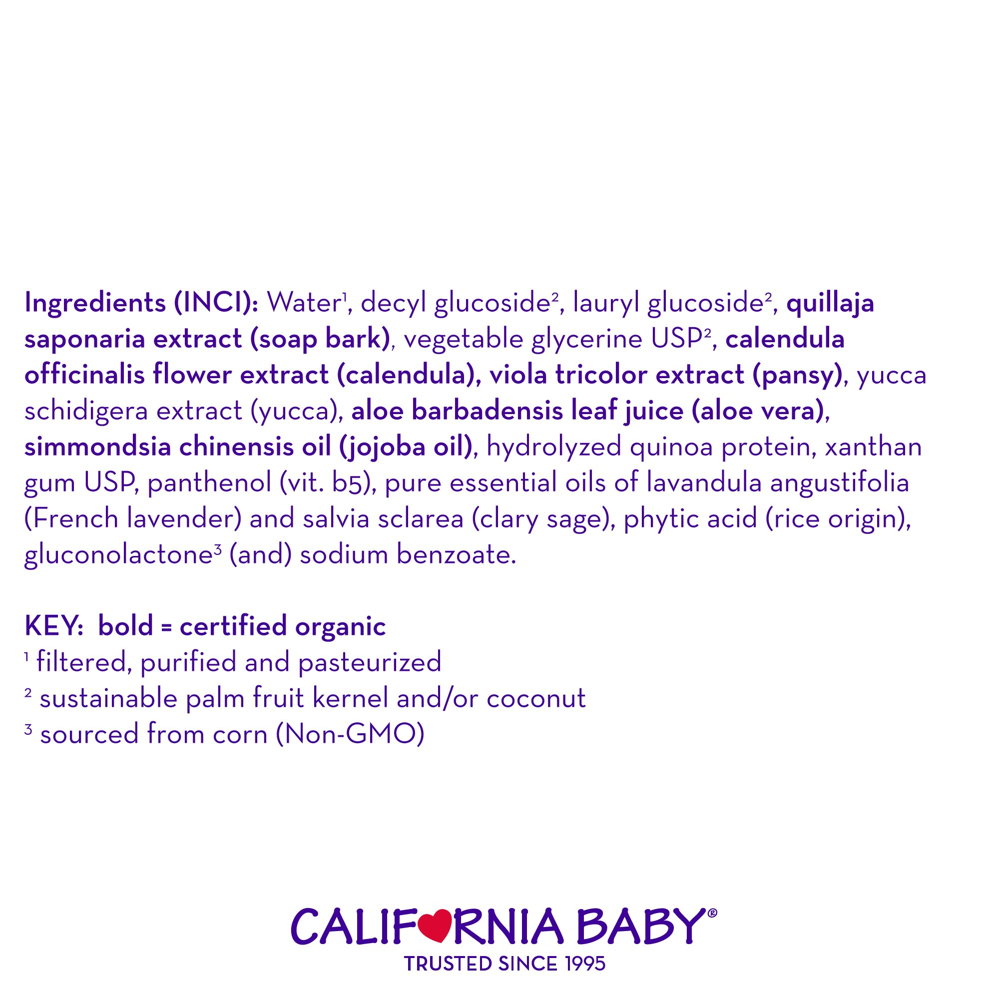California Baby Calendula Shampoo and Body Wash - Hair, Face, and Body | Gentle, Allergy Tested | Dry, Sensitive Skin, 8.5 Ounces-2Pack by California Baby