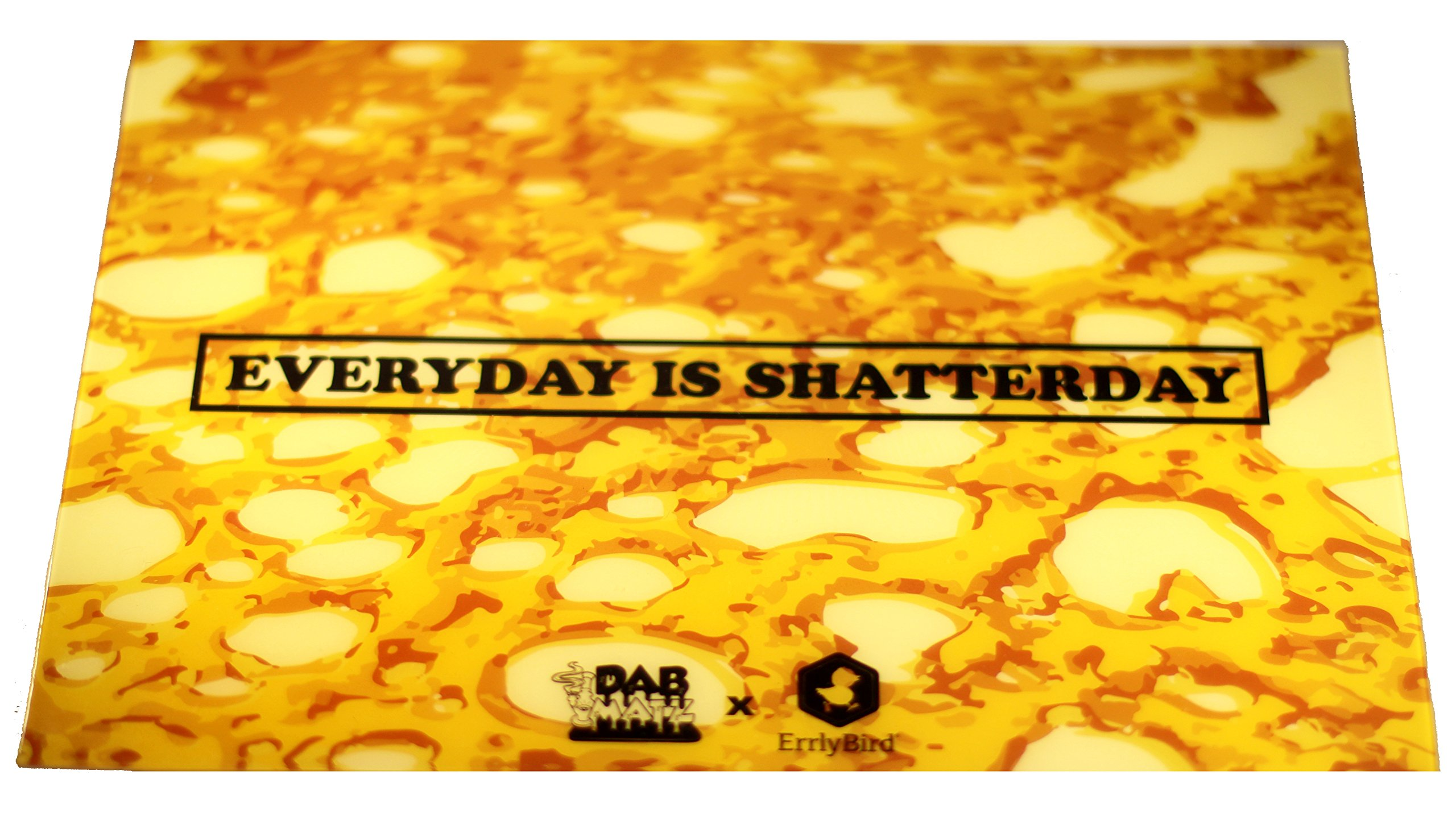 Non-Stick Silicone Dab Mat 8 x 11 inch - Everyday is Shatterday Silicone Mat by Dabmatz (Image #1)