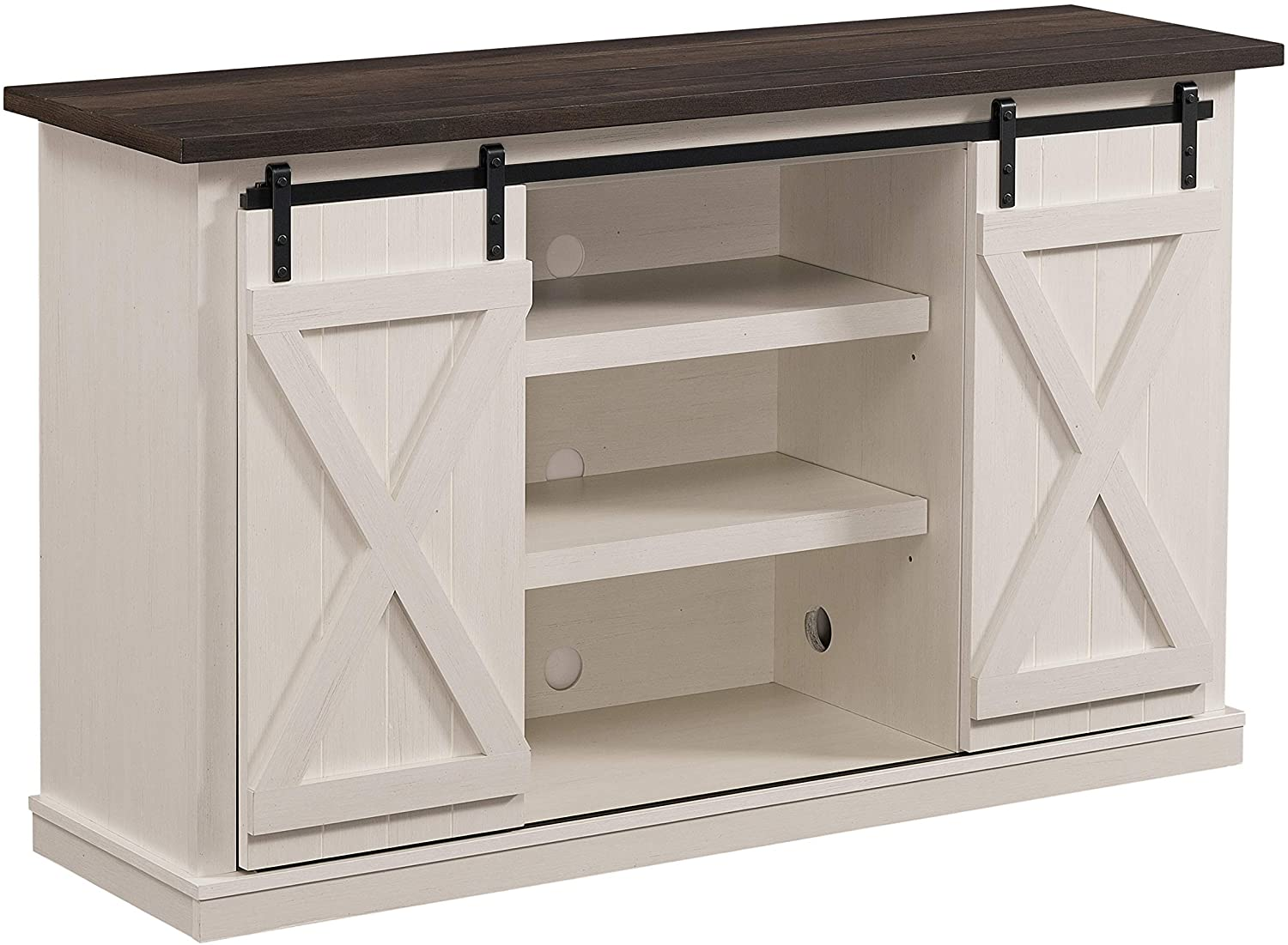 Amazon Com Twin Star Home Terryville Two Tone Tv Stand For Tvs Up To 60 Old White Furniture Decor
