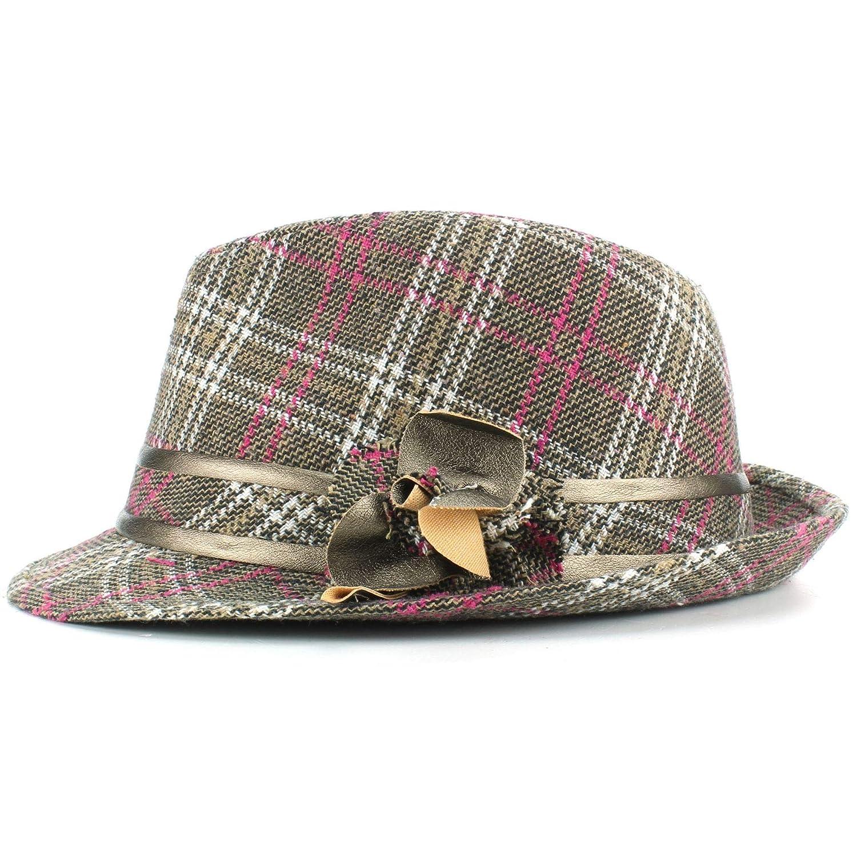 3ed1d561796 Hawkins Wool Tweed Trilby Hat Flower best Christmas gift