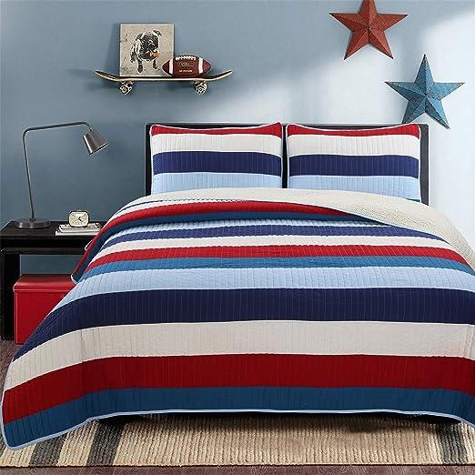 Amazon.com: Cozy Line Home Fashions Aaron Bedding Quilt Set