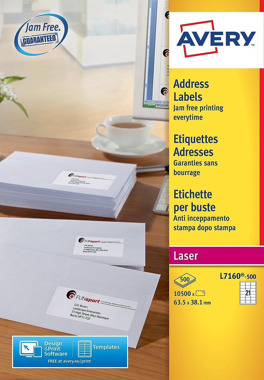 Avery QuickPEEL Blanco FSC - Etiquetas de impresora (Blanco, FSC ...