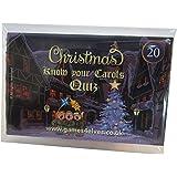 Know Your Christmas Carols Card Game for family, Xmas Eve Box,Secret Santa, Car Journey, Table, Work Party Do lyrics song hymns