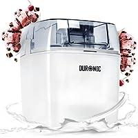 Duronic Ice Cream Maker IM540 Sorbet and Frozen Yoghurt Maker 1.5 Litre - Ice Cream Machine White