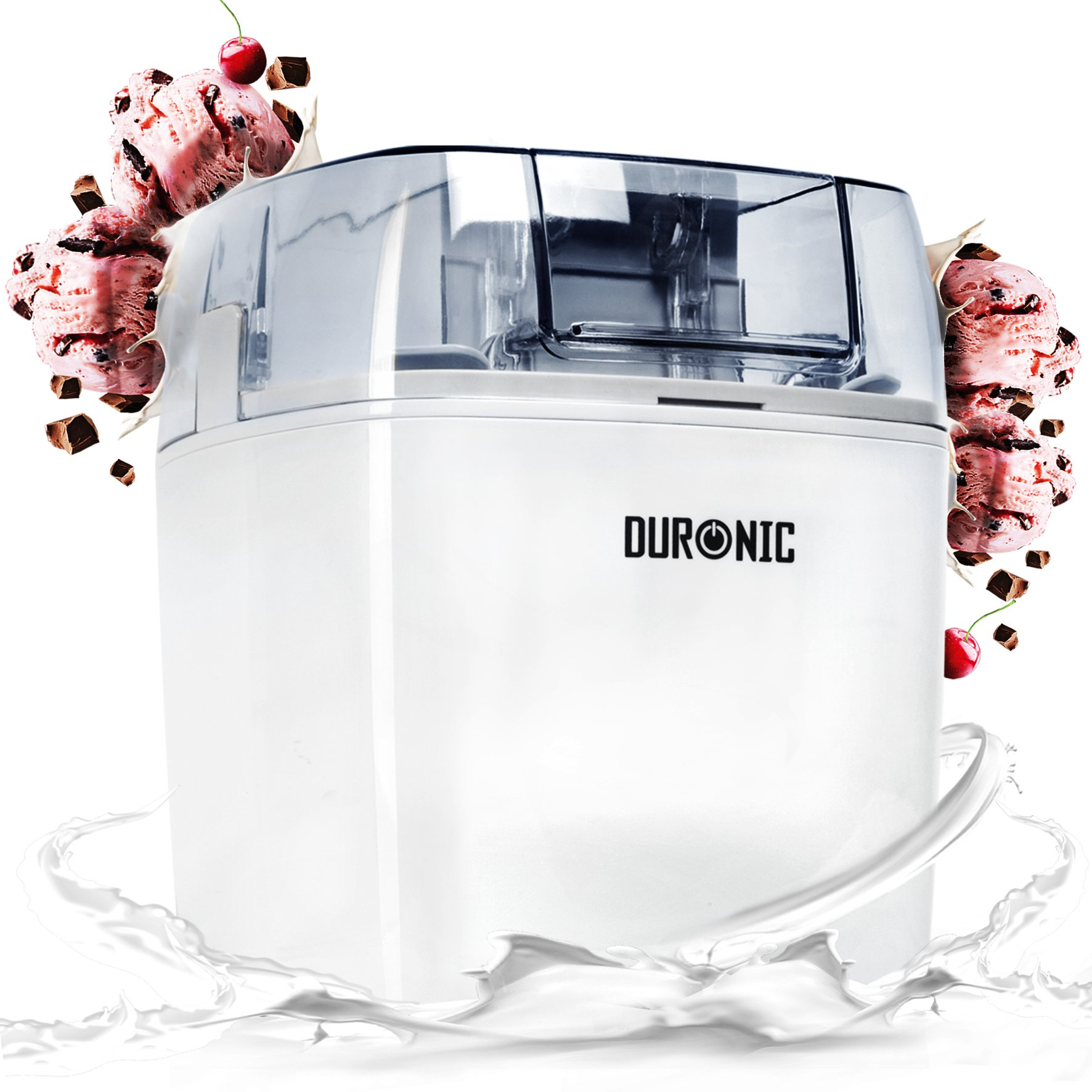 Duronic Ice Cream Maker IM540 | Create Homemade Frozen Desserts Like Gelato, Sorbet and Frozen Yogurt | 540W | 1.5L Freezing Bowl | Make Delicious Creamy Ice Cream in Your Own Kitchen in 30 Minutes                Cuisinart Ice Cream Deluxe, Pre-Freeze Ice Cream, Frozen Yoghurt and Sorbet Maker, Silver, ICE30BCU                Cuisinart Ice Cream and Gelato Maker | Makes Ice Cream, Gelato, Sorbet, Frozen Yoghurt | Stainless Steel | ICE100BCU