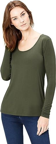 Daily Ritual Womens Jersey Long-Sleeve Scoop-Neck Swing Shirt