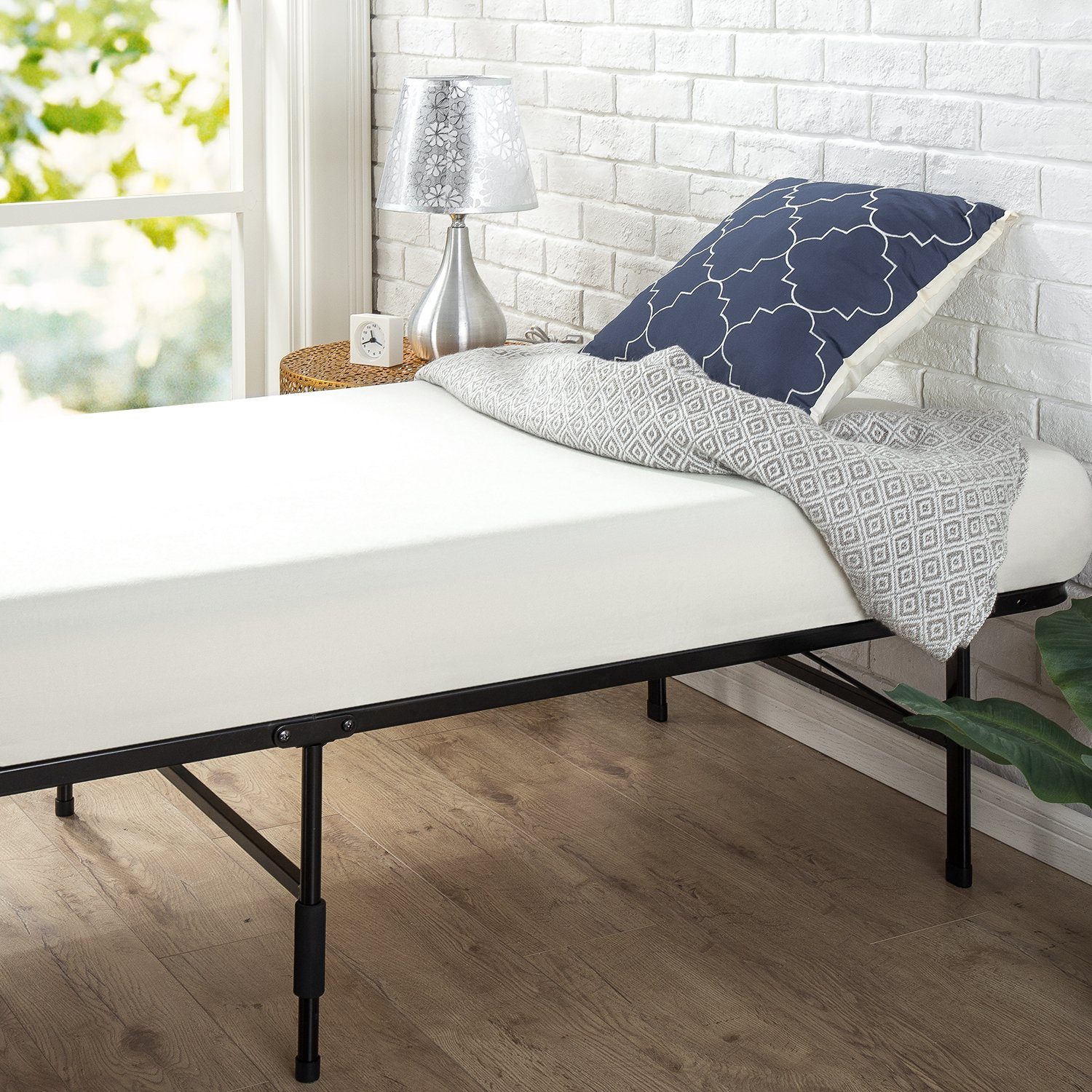 Zinus Shawn 14 Inch SmartBase Mattress Foundation in Narrow Twin / Cot size / 30'' x 75'' / Platform Bed Frame / Box Spring Replacement by Zinus