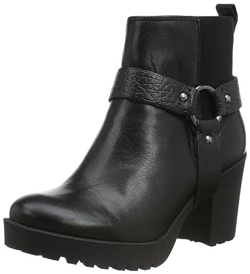 Shoe Biz Bella, Botas Biker para Mujer, Negro (Velvet Black), 39 EU