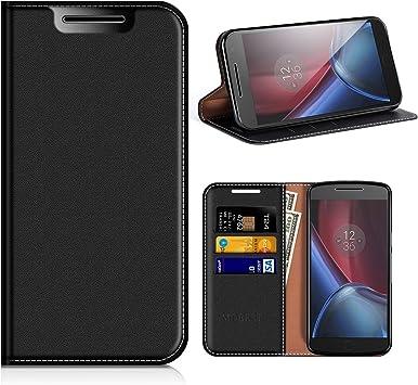 MOBESV Funda Motorola Moto G4, Funda Cuero Moto G4 Plus, Carcasa en Libro, Ranuras para Tarjetas, Soporte para Motorola Moto G4, G4 Plus: Amazon.es: Electrónica