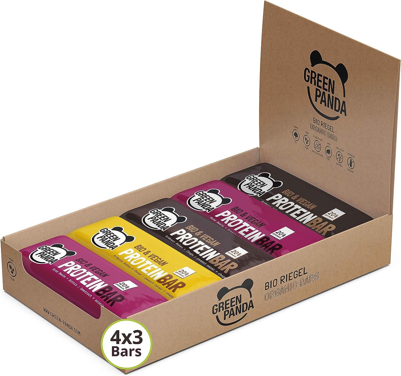 Barritas proteicas veganas sin azúcar con mas del 20% de proteínas vegetales (proteínas de semillas de calabaza, cáñamo y semillas de girasol) 12 x 30 g (Los 3 sabores)