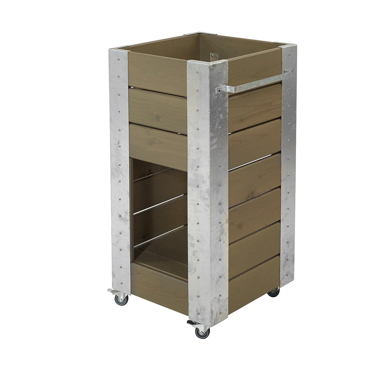 Plus BluHommes Graubraun kasten 46x50x95cm m/Regal - Graubraun BluHommes fa4074