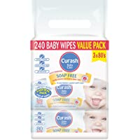 Curash Vitamin E Baby Wipes 3X80PK