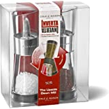 Cole & Mason Inverta Flip Acrylic and Chrome Salt and Pepper Mill Gift Set, 15.4 cm