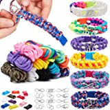12 Colors Paracord Bracelet Making Kit DIY Friendship Bracelets Set for Girls Charm Jewelry Making Kit Birthdays Gifts…