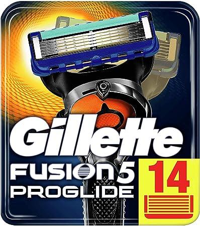 Cuchillas de afeitar Gillette con 5 hojas antifricción; un afeitado imperceptible,Recortadora de pre