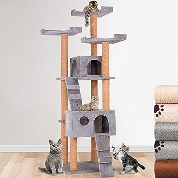 Leopet Rascador Mediano Gato - Árbol para Gatos Árbol Escalada algodón 171 cm Alto Color a Elegir: Amazon.es: Productos para mascotas