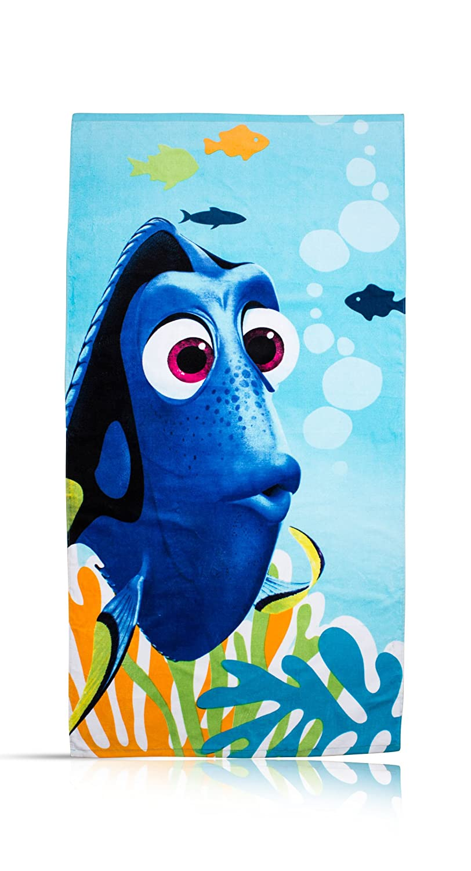 Finding Dory 'Dory' Towel Character World uk home CDKH4 DFDDORTW005UK