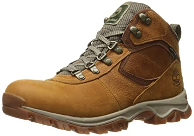e14aa609383 Timberland Men's Mt. Maddsen Mid Leather Wp, light brown full grain, 7  Medium