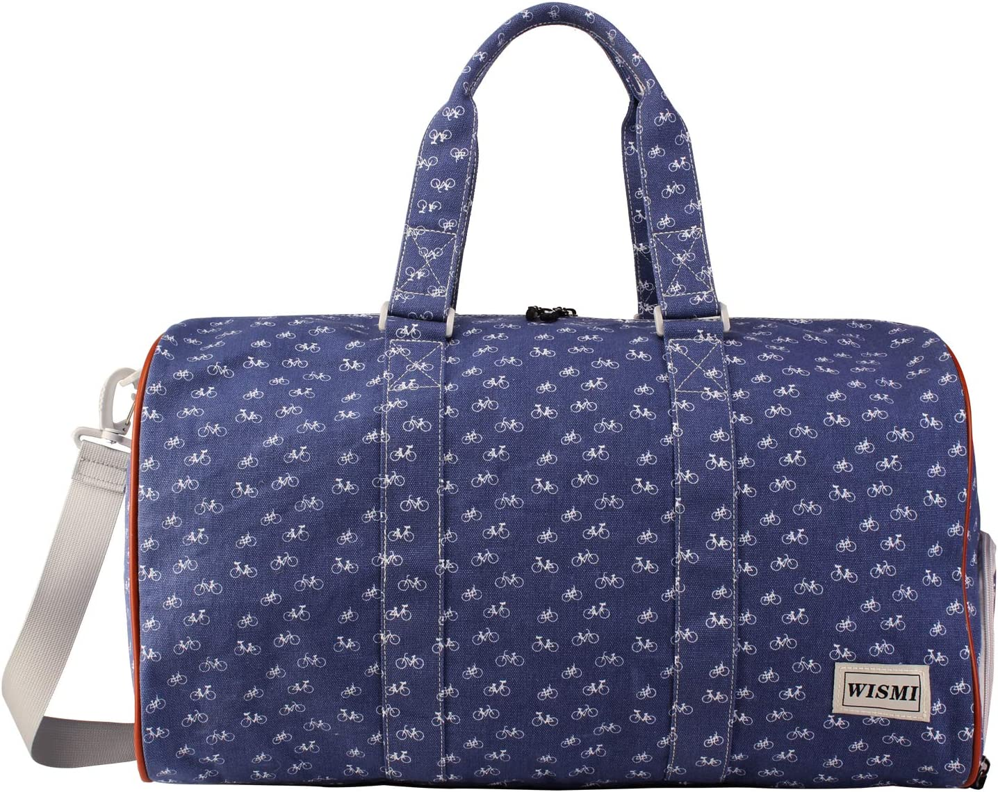 Travel Duffel Bag Patterned Canvas Weekend bag Hand Bag bike