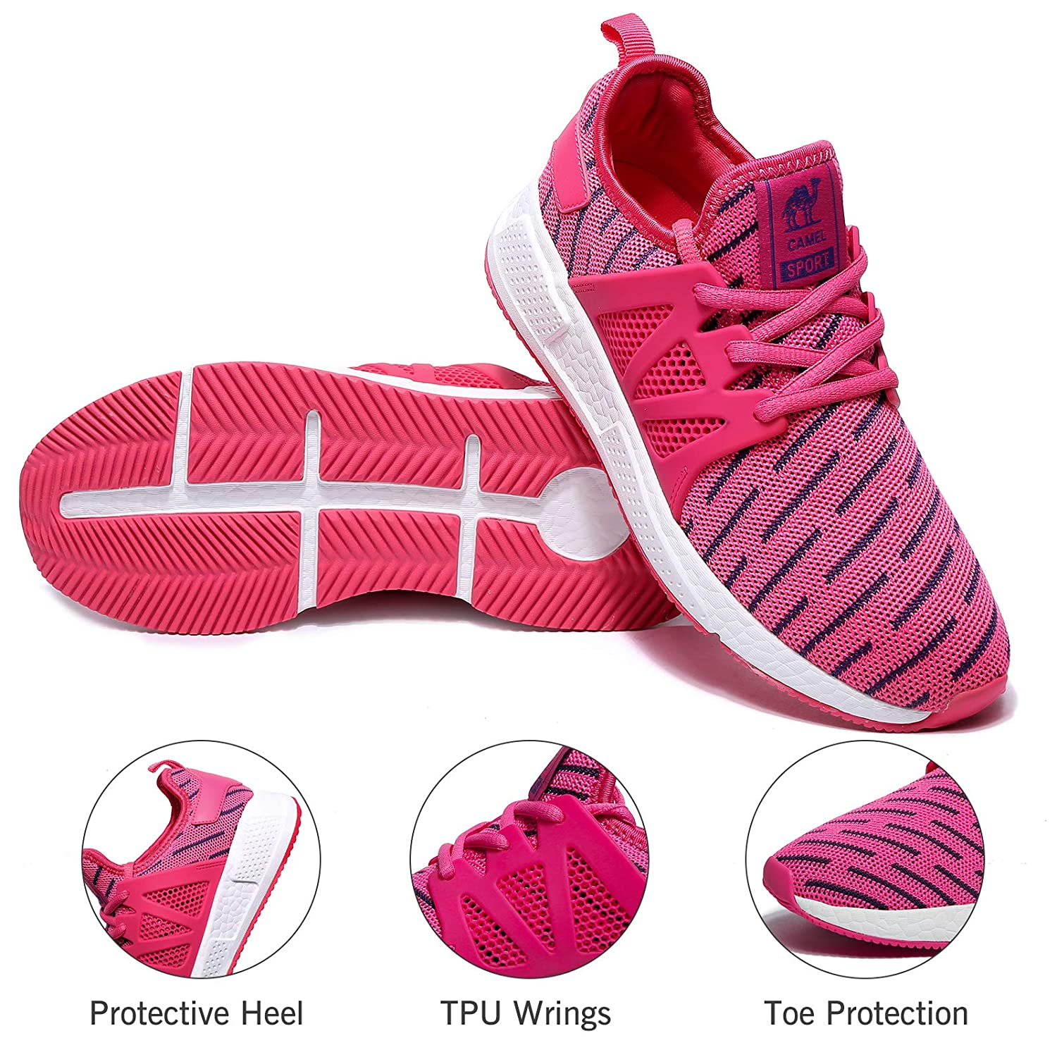 Camel Lightweight Mens Running Shoes Fashion Walking Sneakers Casual Athletic Tennis Shoe