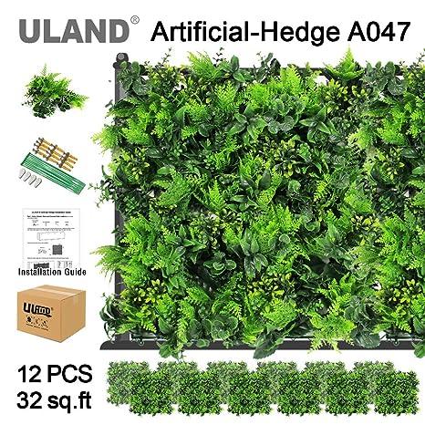 Amazon.com: ULAND paneles de setos de madera de boj ...