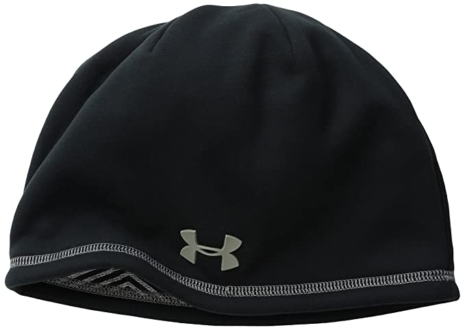 db424c9af9dad Under Armour Men's Storm ColdGear Infrared Elements 2.0 Beanie, Black /Tan  Stone, One