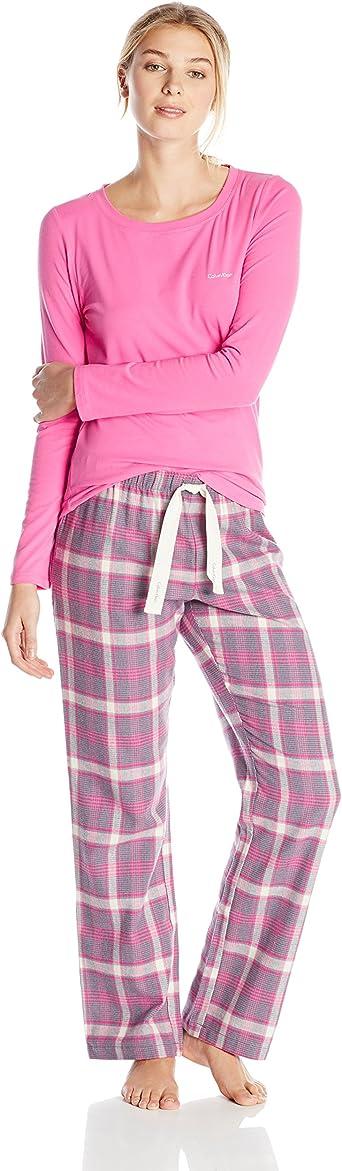 Calvin Klein Mujer de Pijama de Franela Sleep Set