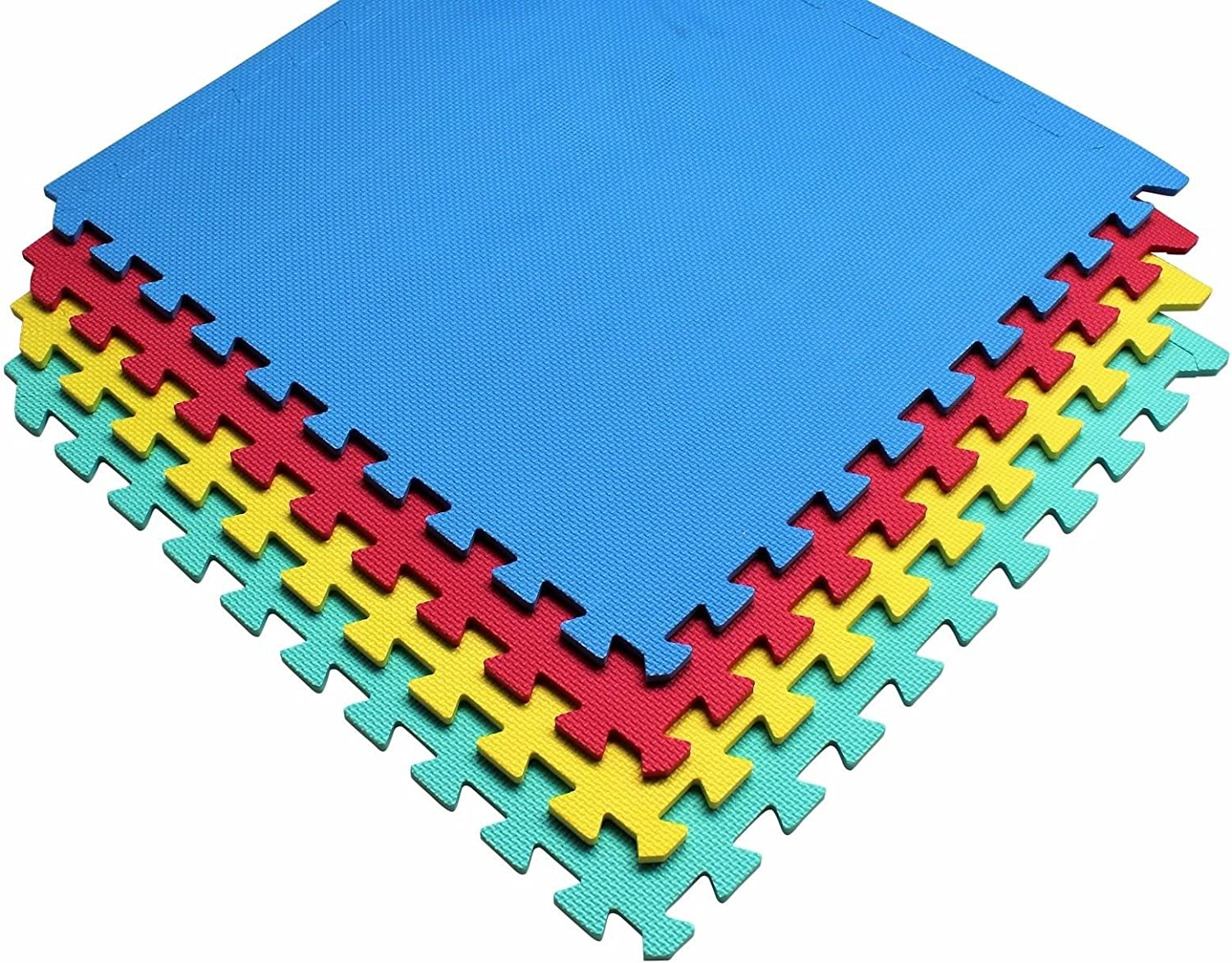 Home and Garden Products 96 SQ FT Interlocking EVA Soft Foam Exercise Floor Mats Play Toy Multicoloured