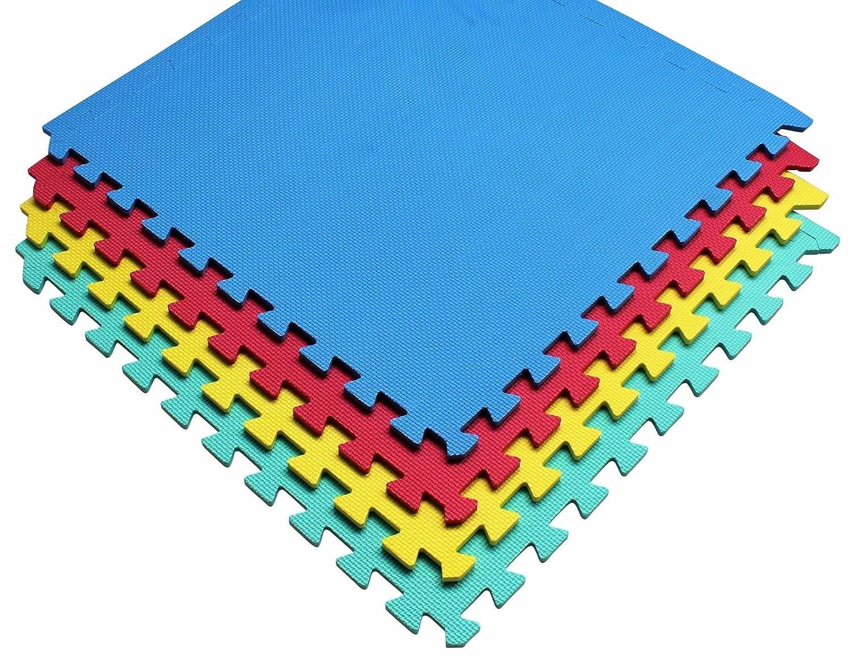 192 SQ FT ineinandergreifende EVA weichem Schaumstoff, Bodenmatten Play Bereich Mehrfarbig