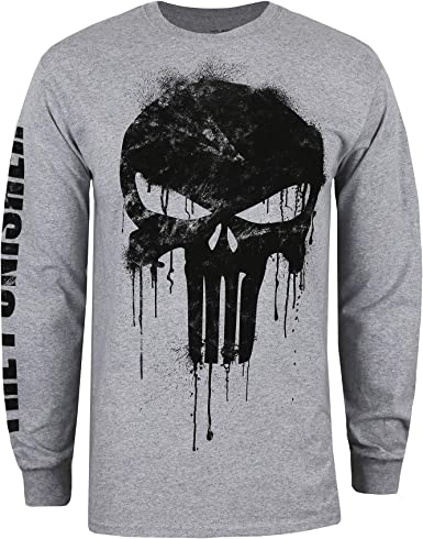 Punisher Skull LONG SLEEVE T-shirt Marvel Comics