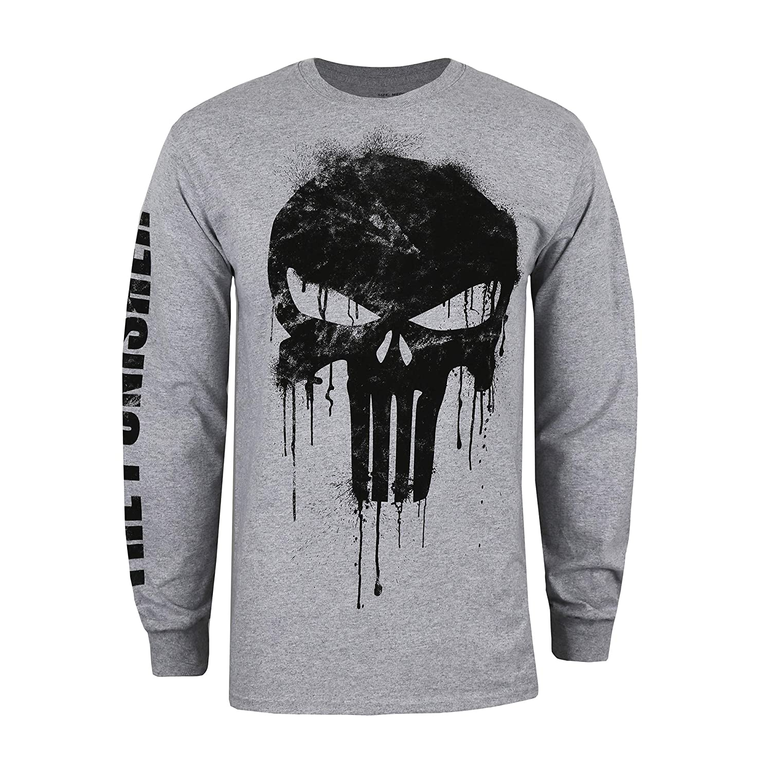 Marvel Avengers Punisher Skull Maglia a Maniche Lunghe Uomo