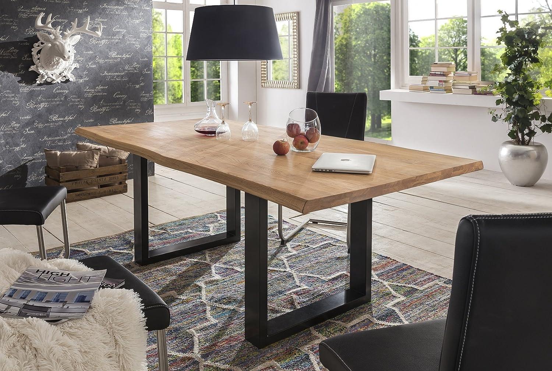 Baumtisch Tisch Esstisch 'Kopenhagen' 180x100cm Wildeiche massic geölt Holz