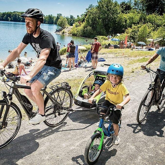 Dettelin Gancio per rimorchio per Bicicletta Attacco per Gancio di Traino in Acciaio Attacco per Gancio di Traino Compatibile con Biciclette Generali e Biciclette elettriche