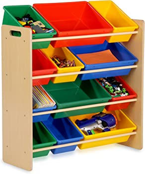 Honey-Can-Do SRT-01602 Kids Toy Organizer and Storage Bins
